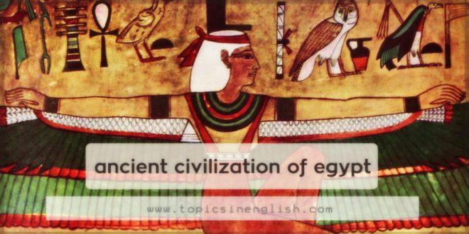 ancient civilization of egypt