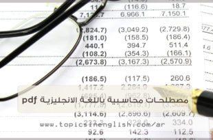 مصطلحات محاسبية باللغة الانجليزية pdf