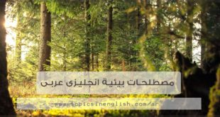 مصطلحات بيئية انجليزى عربى