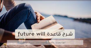 شرح قاعدة future will