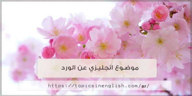 موضوع انجليزي عن الورد مواضيع باللغة الانجليزية
