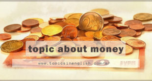 topic about money