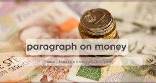 paragraph on money