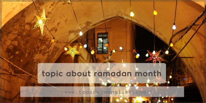 topic about ramadan month