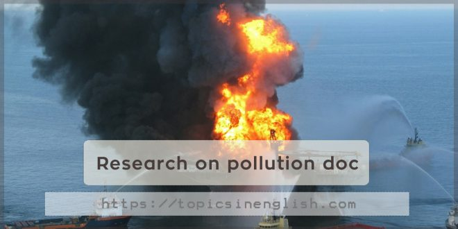 Research on pollution doc