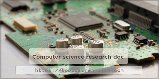 Computer science research doc