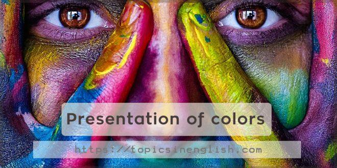Presentation of colors