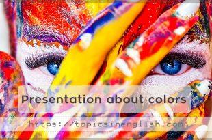 Presentation about colors