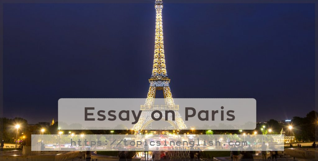 essays on paris Free essay: hrm 400-100 human resource management fall 2012 professor: dr dennis kripp hotel paris case paper #1 the question is: how can we create an.