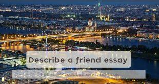 Describe a friend essay