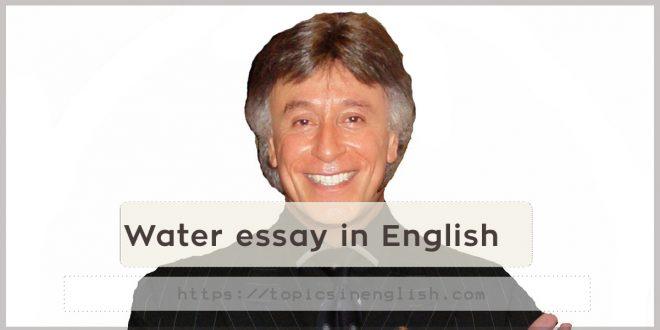 Famous person essay