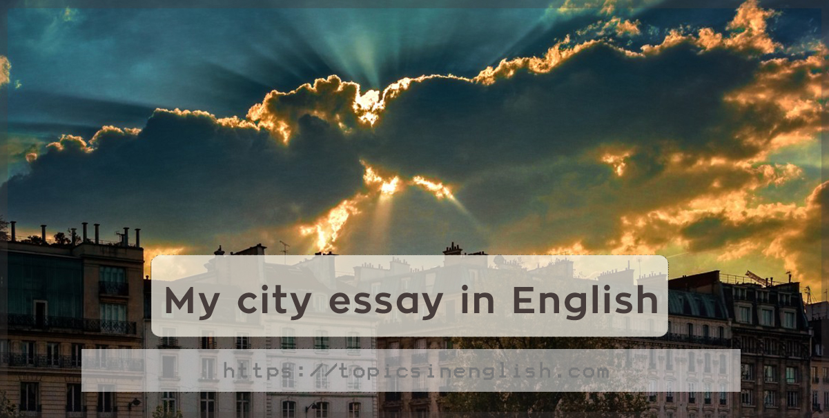 my city essay in english  topics in english