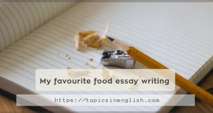 My favourite food essay writing