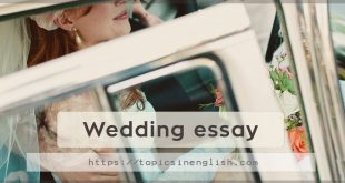 Wedding essay
