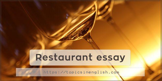 Restaurant essay