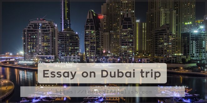 Essay on Dubai trip