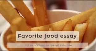 Favorite food essay