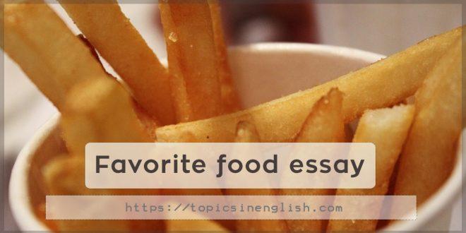 english essay favorite food