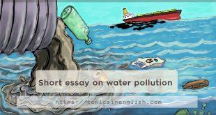 Short essay on water pollution