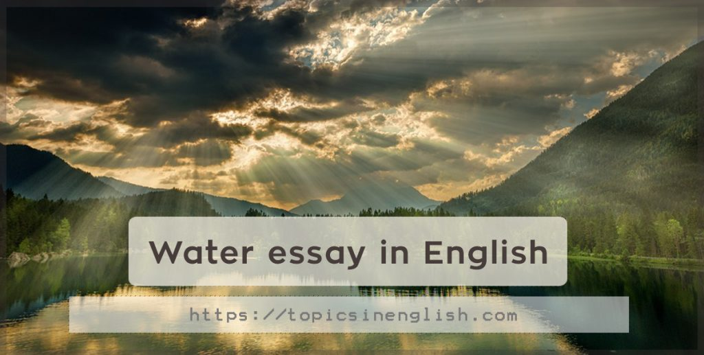 water essay In recent years, most of available water has been faced a situation which is it will be less and less in the future according to a research of iwmi 25% population of the world or 33% population of developing countries will suffer water shortage in the next century (seckler et al , 1998.