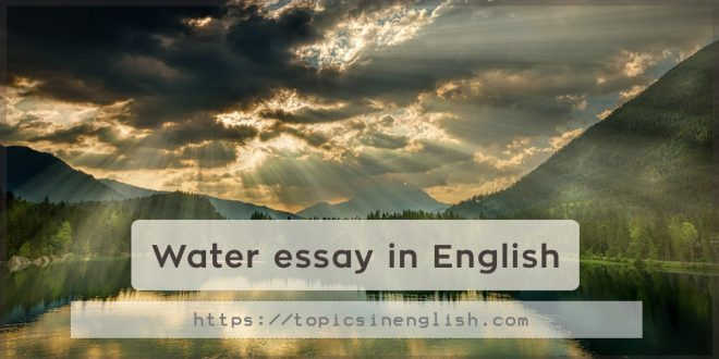 Water essay in English
