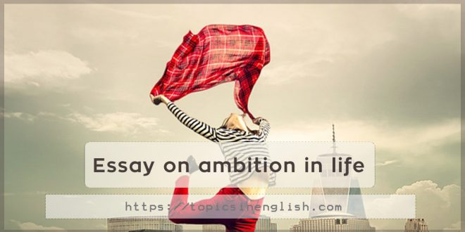 essay on ambition in life  topics in english