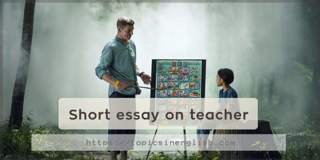 Short essay on teacher
