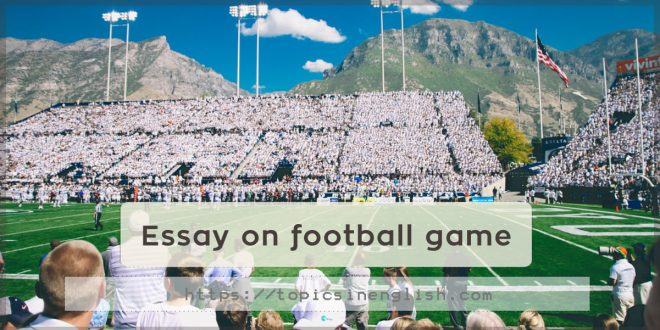 Essay on football game