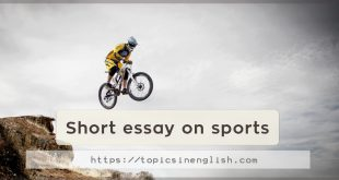 Short essay on sports