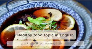 Healthy food topic in English