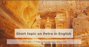 Short topic on Petra in English