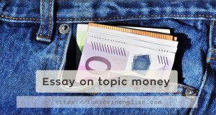 Essay on topic money
