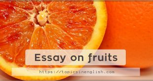 Essay on fruits