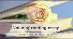 Value of reading essay
