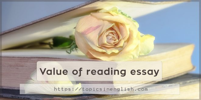 Value of reading essay