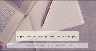 Importance of reading books essay in English