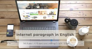 Internet paragraph in English