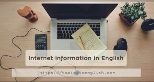 Internet information in English