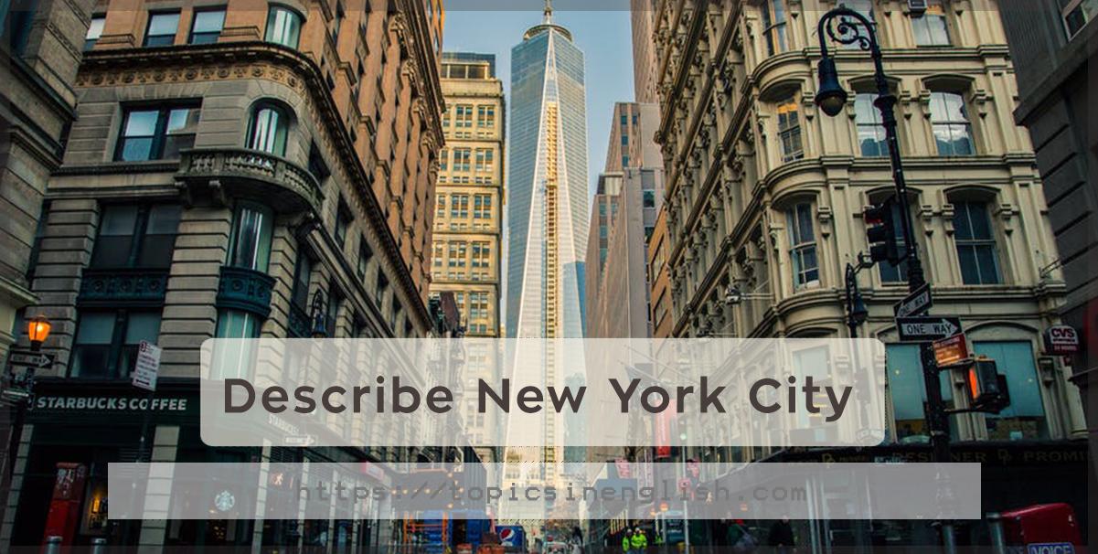 descriptive essay about new york city