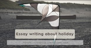 Essay writing about holiday