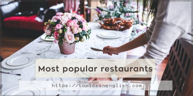 Most popular restaurants