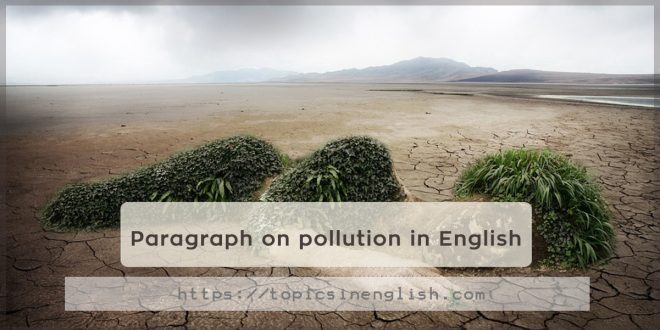 Paragraph on pollution in English