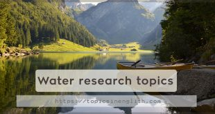 Water research topics