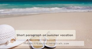 Short paragraph on summer vacation