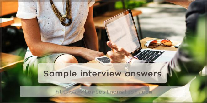 Sample interview answers