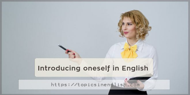 Introducing oneself in English