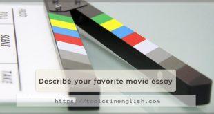 Describe your favorite movie essay