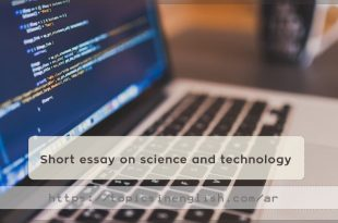 Short essay on science and technology
