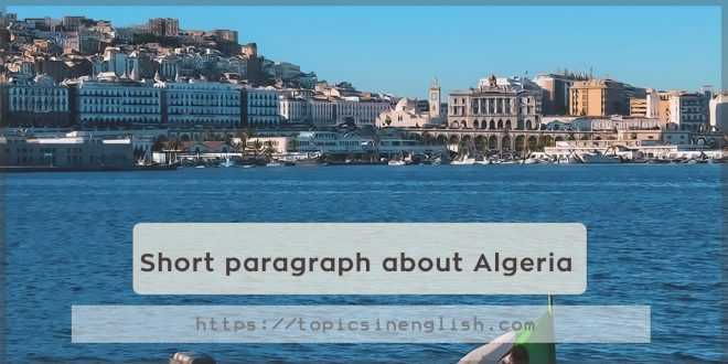 Short paragraph about Algeria