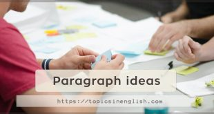 Paragraph ideas